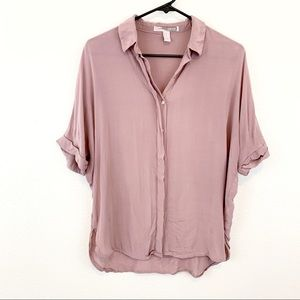 Blush Pink Forever 21 Button Up Blouse